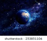 planet earth in outer space....   Shutterstock . vector #253851106
