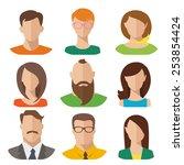 flat vector characters | Shutterstock .eps vector #253854424