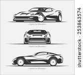 modern sports car set. vector... | Shutterstock .eps vector #253863574