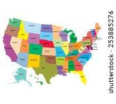 map america   Shutterstock . vector #253885276