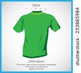 t shirt in green color | Shutterstock .eps vector #253885984