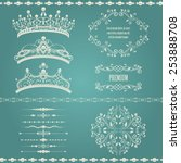royal design elements  vintage... | Shutterstock .eps vector #253888708