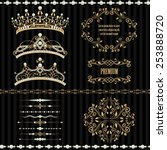 royal design elements  vintage... | Shutterstock .eps vector #253888720