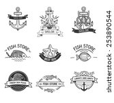 retro vintage insignias or... | Shutterstock .eps vector #253890544