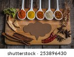 assortment of spices in the... | Shutterstock . vector #253896430