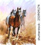 Horse Equestrian Passion Oil...
