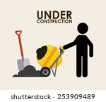 under construction design ... | Shutterstock .eps vector #253909489