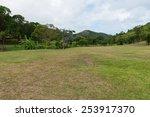 Tropical landscape in the Caribbean, Saint-Martin - stock photo