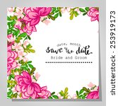wedding invitation cards with...   Shutterstock .eps vector #253919173