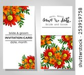 wedding invitation cards with...   Shutterstock .eps vector #253919758