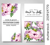 wedding invitation cards with... | Shutterstock .eps vector #253919770