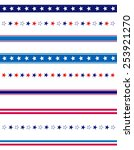 4th of july page divider   line ... | Shutterstock .eps vector #253921270