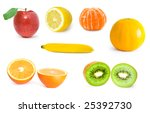 collection of fruit isolated on ... | Shutterstock . vector #25392730