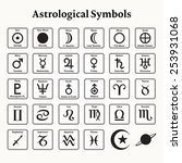 elements of astrology zodiac... | Shutterstock .eps vector #253931068