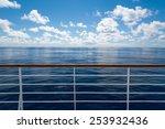Ocean from cruise ship - stock photo