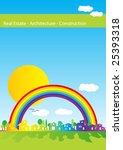 brochure cover   real estate ... | Shutterstock .eps vector #25393318