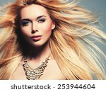 closeup portrait of the... | Shutterstock . vector #253944604
