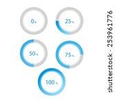 vector round progress... | Shutterstock .eps vector #253961776