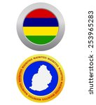 button as a symbol mauritius...   Shutterstock .eps vector #253965283