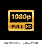 1080p full hd sign | Shutterstock .eps vector #253969480