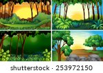 illustration of four different... | Shutterstock .eps vector #253972150