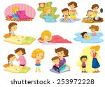 illustration of children doing... | Shutterstock .eps vector #253972228