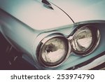 color detail on the headlight... | Shutterstock . vector #253974790