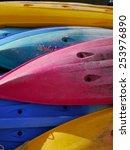 Colorful Of Kayaks