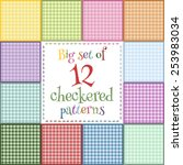 Set Of 12 Colorful Seamless...