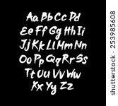 vector alphabet. hand drawn... | Shutterstock .eps vector #253985608