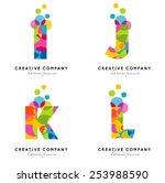 creative alphabet letters logo. ... | Shutterstock .eps vector #253988590