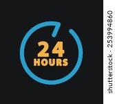 24 hours customer service. | Shutterstock .eps vector #253994860