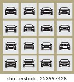 vector black auto icon set on... | Shutterstock .eps vector #253997428