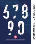 vector graphic numbers in a set.... | Shutterstock .eps vector #254002300