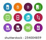 internet 3g and 4g  lte sim... | Shutterstock .eps vector #254004859