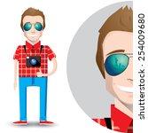 flat design character.young... | Shutterstock .eps vector #254009680