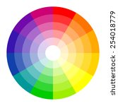 color circle 12 colors | Shutterstock .eps vector #254018779