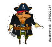 illustration of a pirate...   Shutterstock .eps vector #254021269