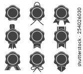 vector various wax seal icon... | Shutterstock .eps vector #254026030