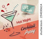 summer party invitation with... | Shutterstock .eps vector #254030614