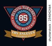 sport running marathon  t shirt ... | Shutterstock .eps vector #254042464