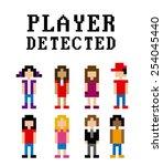 video gamers design  vector... | Shutterstock .eps vector #254045440