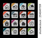building icons | Shutterstock .eps vector #254049709