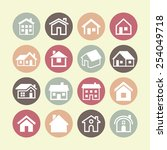 real estate icons | Shutterstock .eps vector #254049718