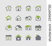 house icon collection | Shutterstock .eps vector #254049730