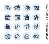 house icon set | Shutterstock .eps vector #254049790