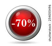 70 percent discount icon.... | Shutterstock . vector #254055496