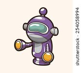 robot theme elements | Shutterstock .eps vector #254058994