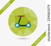 scooter flat icon with long... | Shutterstock .eps vector #254061079