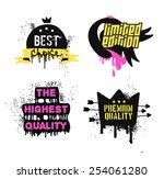 best choice and premium quality ... | Shutterstock .eps vector #254061280